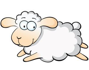springendes Schaf