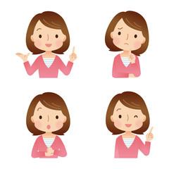 女性/表情セット