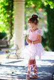 cute little girl ballerina dance
