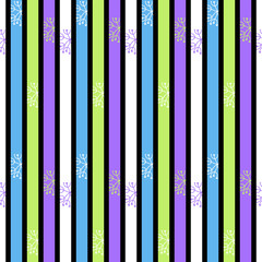 Abstract seamless pattern with colorful stripes