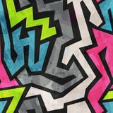 grunge graffiti seamless pattern - 61837749