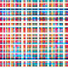 colorful grid seamless pattern with grunge effect