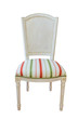 Wooden furniture upholstered chair. On a white background.