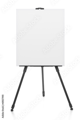 advertising stand or flipchart or blank artist easel isolated on