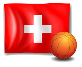 The flag of Switzerland with a ball