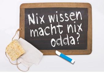 Schiefer, Schiefertafel, Schule, Antik, Schwamm, Griffel, Kreide