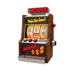 3D Icon Slot Machine freigestellt
