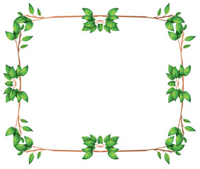 An empty frame with green leafy borders