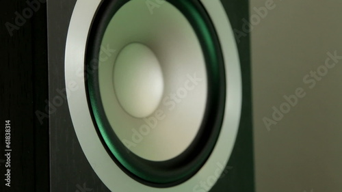 Bass speaker - changing color light