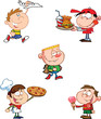 Happy Kids Cartoon Characters