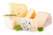 Leinwandbild Motiv cheese isolated