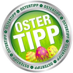 """Button """"Ostertipp"""" Ostereier grün/silber"""