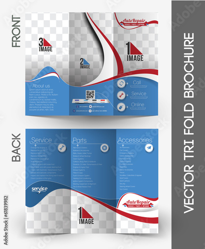 Automobile Center Tri-Fold Brochure Design