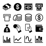 Money and business icon set