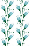Bluebell Flowers Seamless Pattern