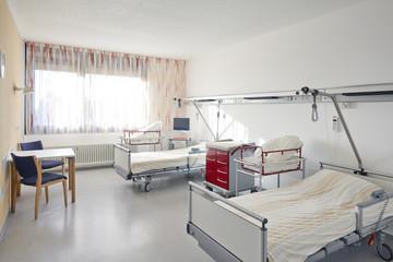 Zimmer zwei Bett Krankenhaus