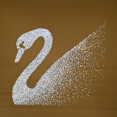 Graceful swan artwork