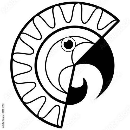 Ara Papagei Vogel Tier Kunst Design
