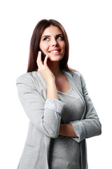 Young smiling woman talking on the phone