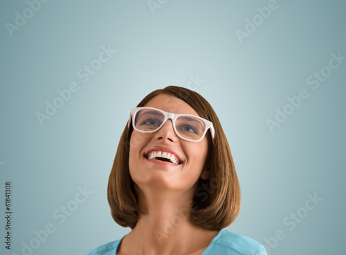 Laughing woman with good sense of humor