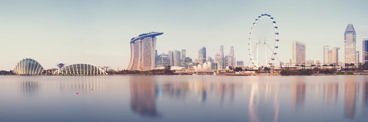 Panoramic image of Singapore`s skyline