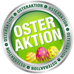 """Button """"Osteraktion"""" Ostereier grün/silber"""
