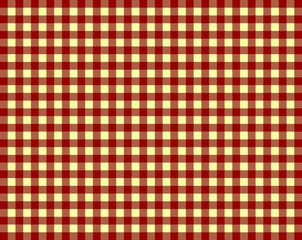 Tischdeckenmuster mit roten und gelben Karos