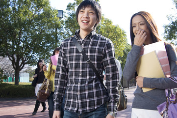 Japanese college student couple