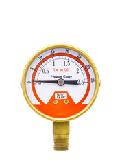 Pressure gauge isolated on white background.