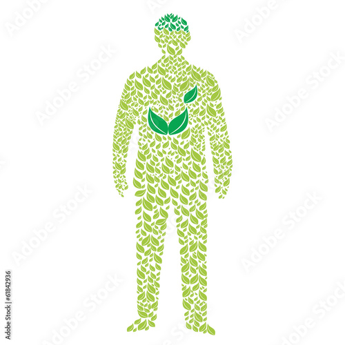 Green man – ecological concept