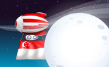 A balloon with the flag of Singapore
