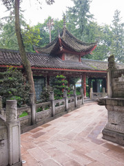 Perspective in Chinese Buddhist monastery