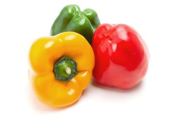 Yellow, red, green parprika