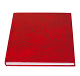 Red book lying isolated