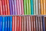 colored pastels in a box background