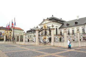 Palais Grassalkovich mit Vorplatz in Bratislava