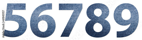 Denim Jeans Texture Numbers 5-9