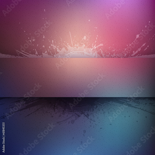 Abstract vector colorful grunge background with banner