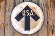 Vintage USA direction sign