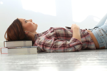 Beautiful girl on the floor