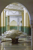 Ablution hall of the Mosque of Hassan II in Casablanca, Morocco