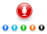 microphone icon vector set