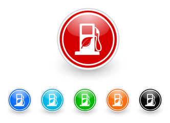 biofuel icon vector set