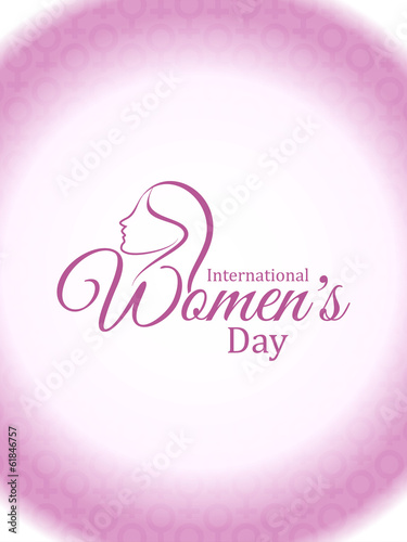 Elegant women's day card design.