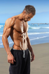 Fit muscular young man