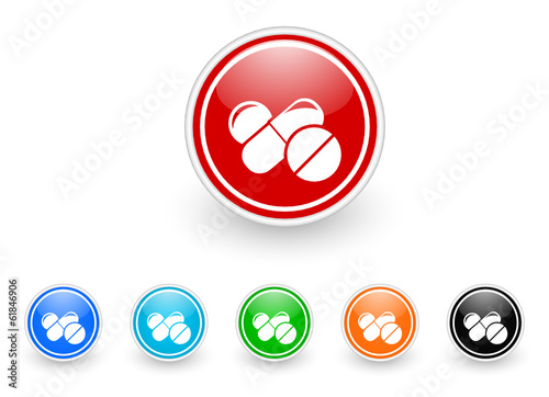 medicine icon vector set