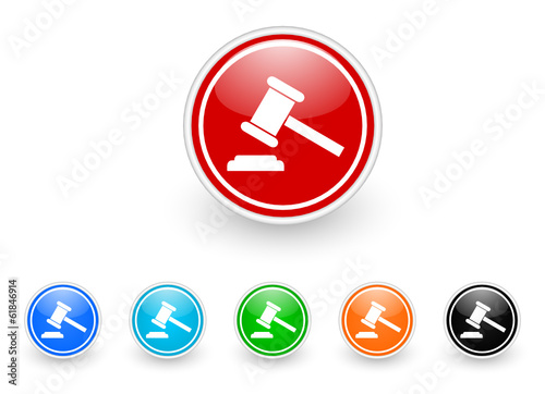 auction icon vector set