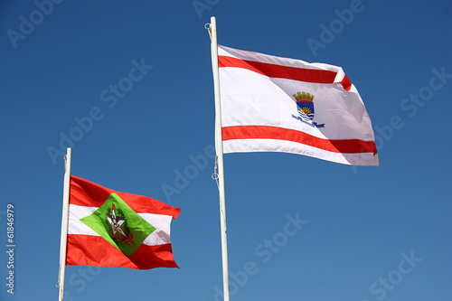 Santa Catarian and Florianopolis flags