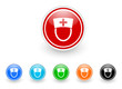 nurse icon vector set