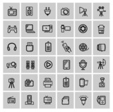 vector set of electronic devices